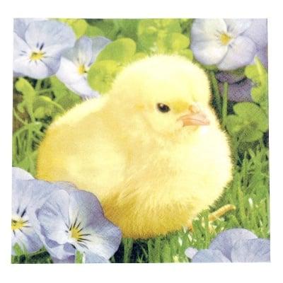 Салфетка HOME FASHION 33x33см трипластова Fluffy Chick -1 брой