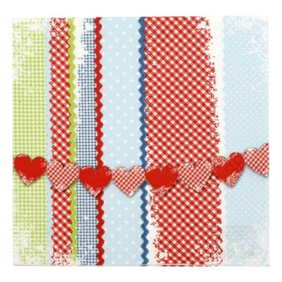 Салфетка HOME FASHION 33x33 см трипластова Lovely Patterns -1 брой