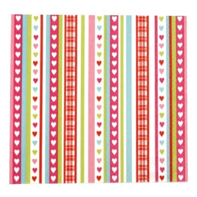 Салфетка HOME FASHION 33x33см трипластова Lovely Stripes -1 брой