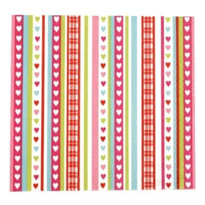 Салфетка HOME FASHION 33x33см трипластова Lovely Stripes -1 брой