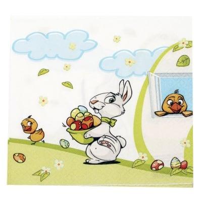 Салфетка HOME FASHION 33x33см трипластова Get the Easter Eggs -1 брой