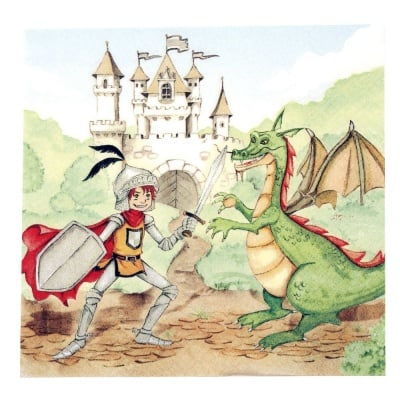 Салфетка HOME FASHION 33x33см трипластова Training Your Dragon -1 брой