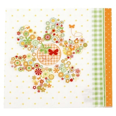 Салфетка HOME FASHION 33x33см трипластова Flowers in a Flower -1 брой