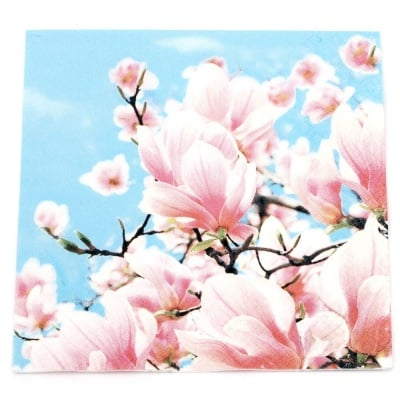 Салфетка HOME FASHION 33x33 см трипластова Blooming Magnolia -1 брой