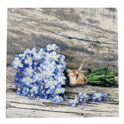 Салфетка HOME FASHION 33x33см трипластова Forget-me-not -1 брой