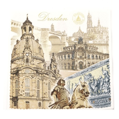 Салфетка HOME FASHION 33x33см трипластова Dresden -1 брой