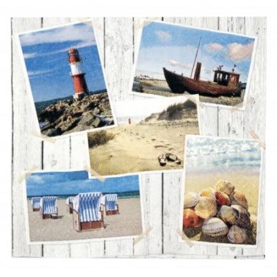 Салфетка HOME FASHION 33x33см трипластова Beach Impressions -1 брой