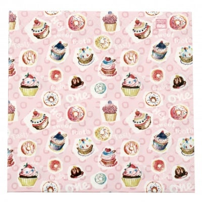 Салфетка HOME FASHION 33x33см трипластова Sweet Tooth -1 брой