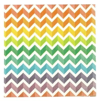Салфетка HOME FASHION 33x33см трипластова Rainbow Chevron -1 брой
