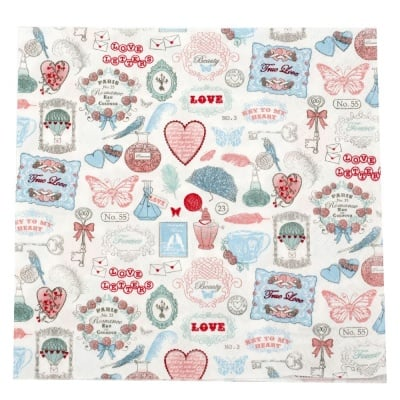 Салфетка HOME FASHION 33x33см трипластова Love Icons -1 брой