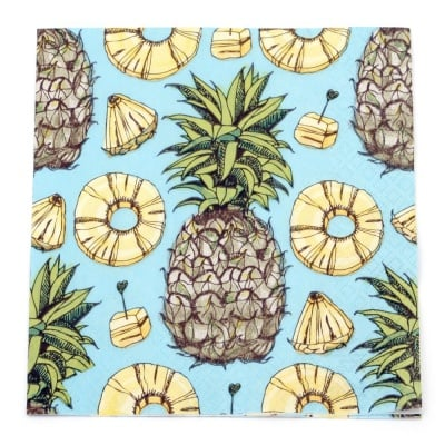 Салфетка HOME FASHION 33x33см трипластова Sweet Pineapple -1 брой