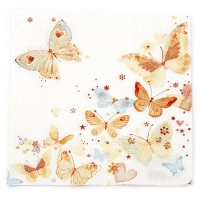 Салфетка HOME FASHION 33x33 см трипластова Lovely Butterflies -1 брой