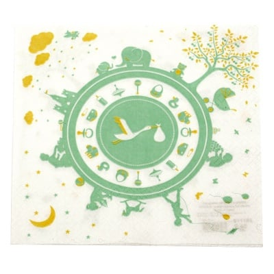 Салфетка HOME FASHION 33x33 см трипластова Newborn mint -1 брой