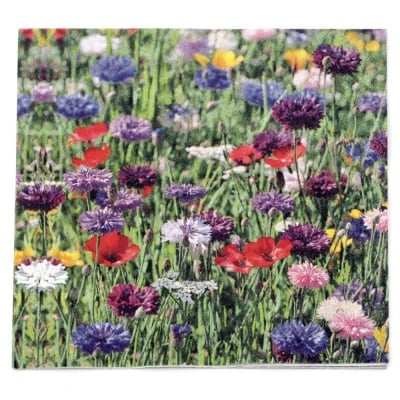 Салфетка HOME FASHION 33x33 см трипластова Flower Field -1 брой