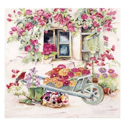 Салфетка HOME FASHION 33x33 см трипластова Backyard Garden -1 брой