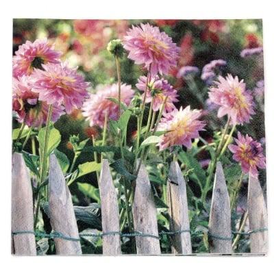 Салфетка HOME FASHION 33x33см трипластова Garden View -1 брой