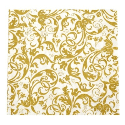 Салфетка HOME FASHION 33x33см трипластова Arabesque gold -1 брой