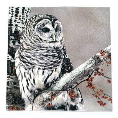 Салфетка HOME FASHION 33x33см трипластова Snow Owl -1 брой