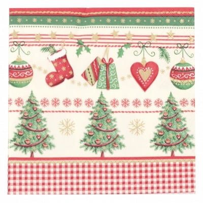 Салфетка HOME FASHION 33x33см трипластова Icy Traditional Christmas -1 брой
