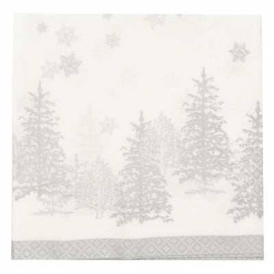 Салфетка HOME FASHION 33x33см трипластова Trees and Snowflakes -1 брой