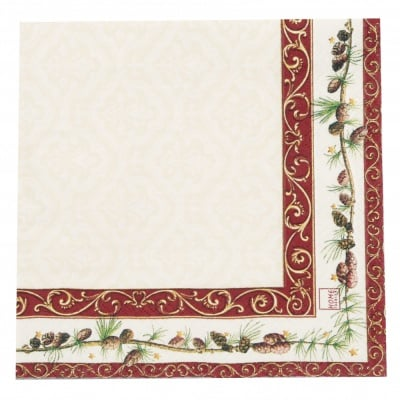 Салфетка HOME FASHION 33x33см трипластова Old English styler -1 брой
