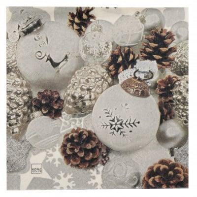 Салфетка HOME FASHION 33x33см трипластова Elegante Christmas -1 брой