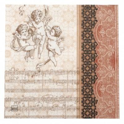 Салфетка HOME FASHION 33x33см трипластова Orchestra of Angels -1 брой