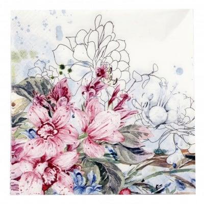 Салфетка HOME FASHION 33x33см трипластова Tropical Orchid -1 брой