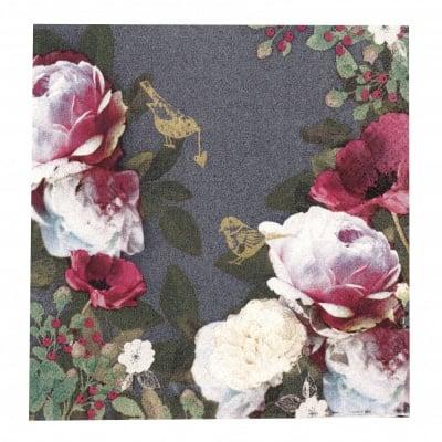 Салфетка HOME FASHION 33x33см трипластова Opulent Flowers -1 брой