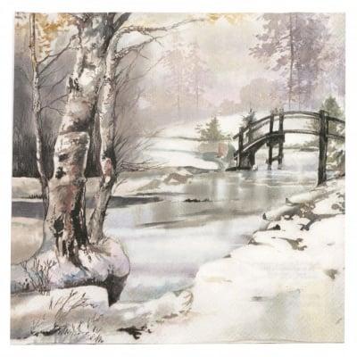 Салфетка за декупаж Ambiente 33x33 см трипластова It s Wintertime-1 брой