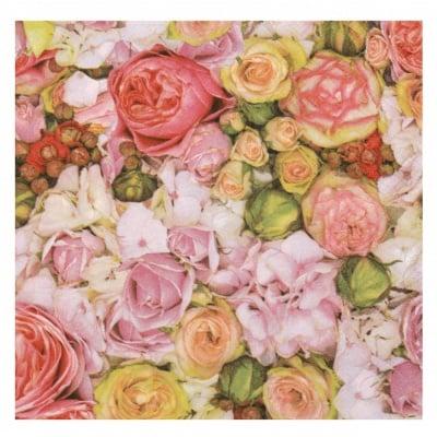 Салфетка за декупаж Ambiente 33x33см трипластова Bed of Roses -1 брой