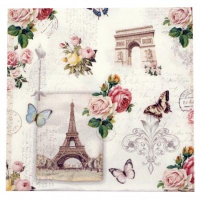 Салфетка за декупаж Ambiente 33x33см трипластова Paris Monuments -1 брой
