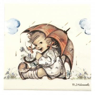 Салфетка за декупаж Ambiente 33x33 см трипластова Umbrella Girl