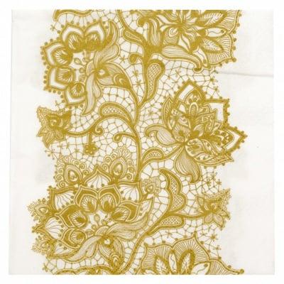 Салфетка ti-flair 33x33см трипластова Lace Pattern gold -1 брой