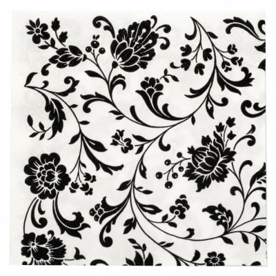Салфетка ti-flair 33x33см трипластова Arabesque White white-black -1 брой