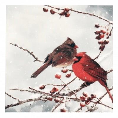 Салфетка ti-flair 33x33см трипластова Cardinal Birds on snowy Branch -1 брой