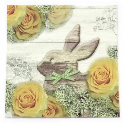 Салфетка ti-flair 33x33см трипластова Be happy at Easter Time -1 брой