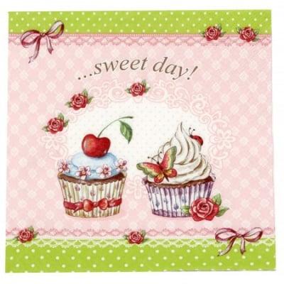 Салфетка ti-flair 33x33см трипластова Sweet Day -1 брой