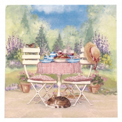 Салфетка ti-flair 33x33см трипластова Lunch on Garden Table -1 брой