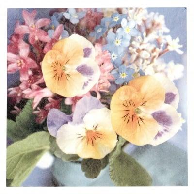 Салфетка ti-flair 33x33см трипластова Violas del Pensiero -1 брой