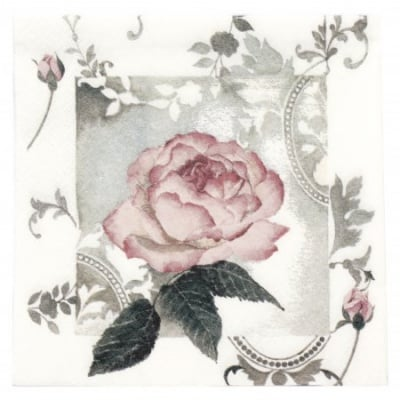 Салфетка ti-flair 33x33см трипластова Enchanting Rose Vintage rose -1 брой