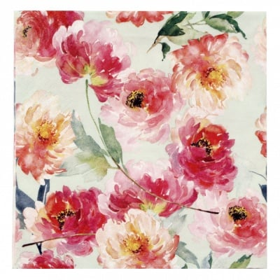 Салфетка ti-flair 33x33см трипластова Summer Roses mint -1 брой