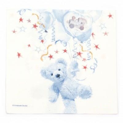 Салфетка за декупаж Ambiente 33x33 см трипластова Teddy Blue -1 брой