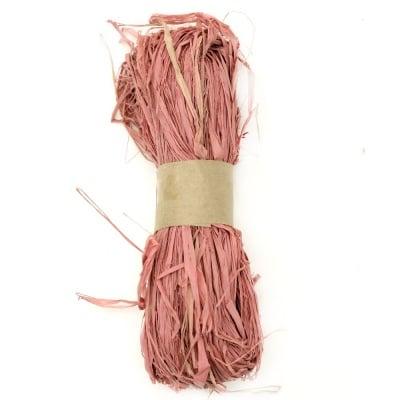 Лико/рафия натурално цвят розово бледо -30 грама