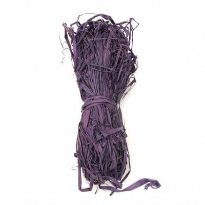 Лико/рафия натурално цвят лилаво -30 грама