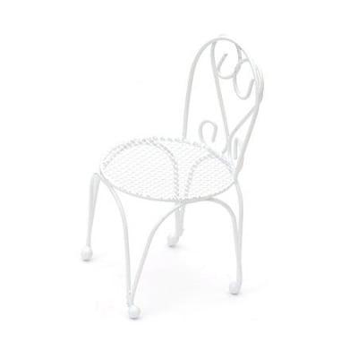 Стол метален 60x55x110 мм цвят бял