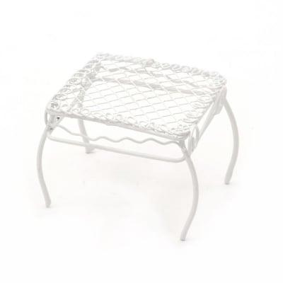 Маса метална 60x55x60 мм цвят бял