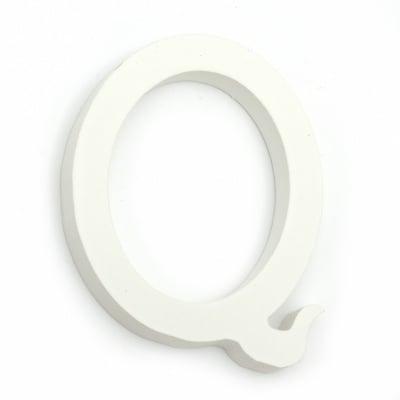"Буква дърво ""Q"" 110x92x12 мм -бяла"