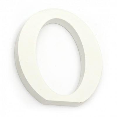 "Буква дърво ""O"" 110x97x12 мм -бяла"