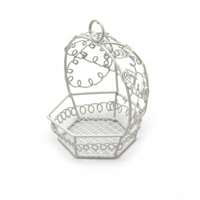Стол люлка метална 80x90 мм цвят бял